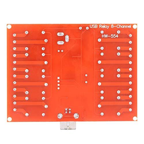 Aoutecen 12V PC Controlador Inteligente Módulo de relé de Controlador USB Interruptor de Controlador de relé de 8 Canales para la producción Industrial