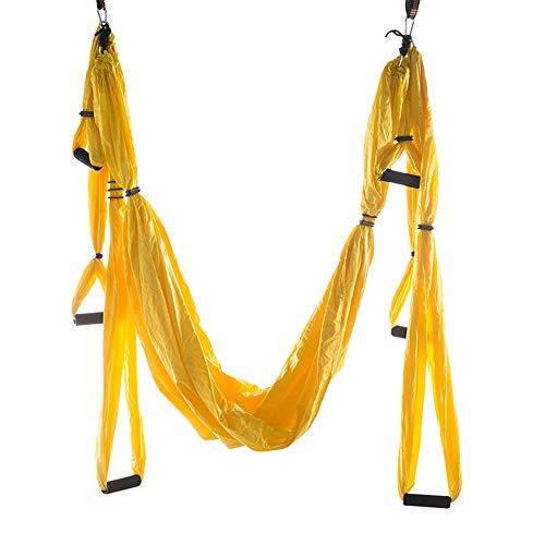 Read About Limaomao Aerial Yoga Swing No Stretch Swing Hammock Yoga Fitness Body Yoga Hammock Aerial...