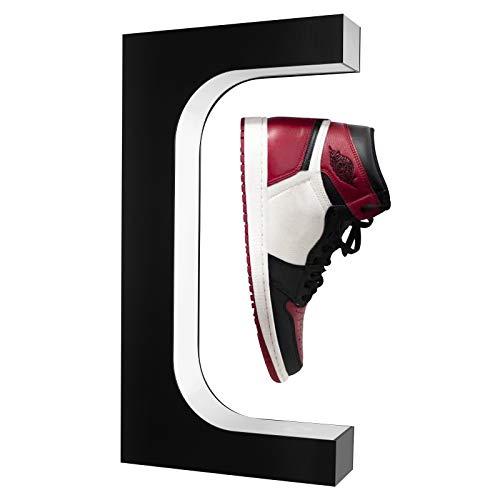 TOPQSC Levitación magnética expositor de zapatos, pantalla de rotación libre de 360 grados, control de la potencia electromagnética, luces LED integradas