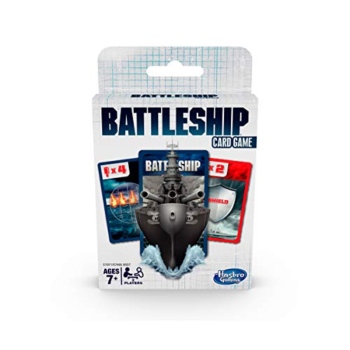 Hasbro Battleship Card Game for Kids Ages 7 and Up, 2 Players Strategy Game (English)