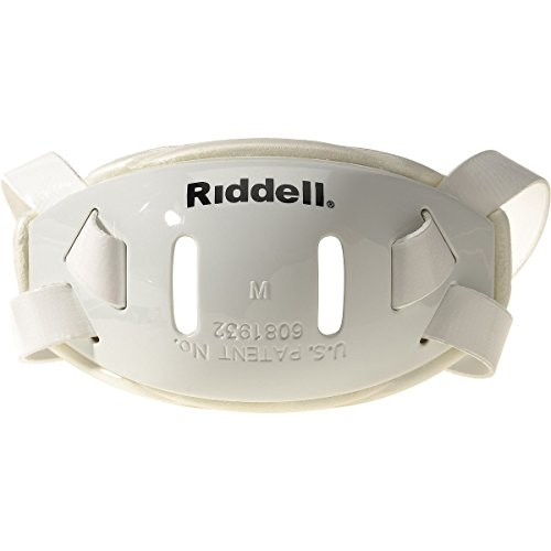 Riddell Hard Cup Chin Strap (White, Small)