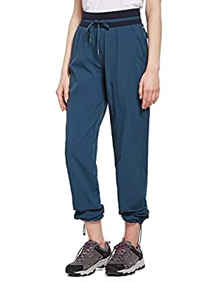 BALEAF Women's Hiking Pants Outdoor Lightweight Athletic Quick Dry Pants Water Resistant UPF 50 Zipper Pockets Navy Blue XL
