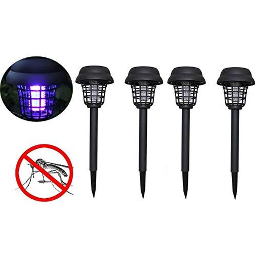 ToDIDAF 4 Stück LED Solar Licht Wasserdichte Anti-Moskito-Lampe Moskito-Mörder Bug Zapper Insekten-Mörder-Lampe Schädlingsfallen Garten Rasen im Freien Camping