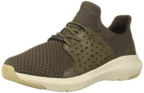 Skechers Men's Parson-TODRICK Sneaker, Brown (BROL 568), 8.5 M US