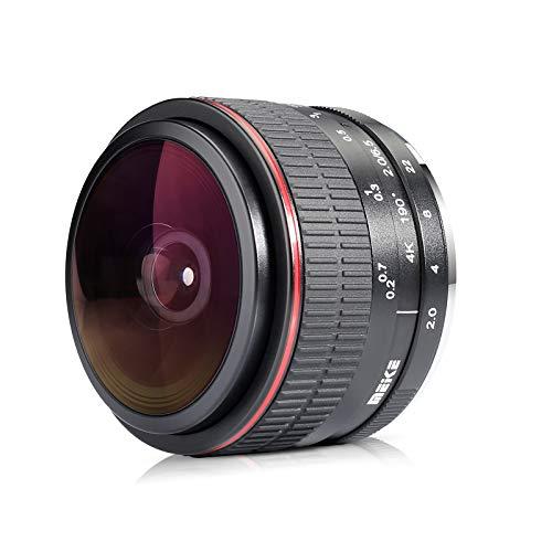 Meike Optics MK - Objetivo Ojo de pez (6,5 mm, f2.0, Gran Angular, para Nikon)