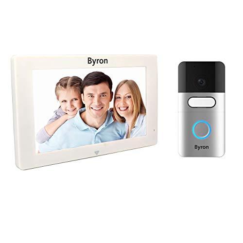 Byron DIC-22615 - Videoportero inalámbrico, comunicación bidireccional, Pantalla táctil