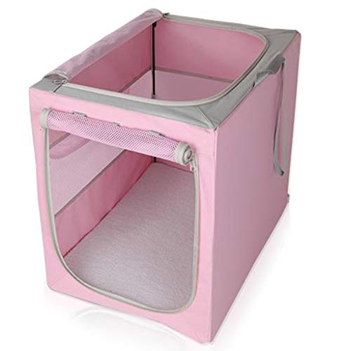 Huisdier Auto Hond Kooi Gouden Retriever Hond Tent Uit Draagbare Hond Auto Pad Grote Hond Auto Kennel, roze