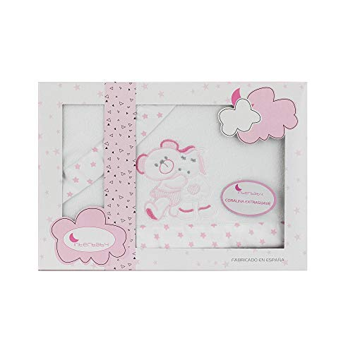 Sabanas invierno Coralina Minicuna 50 X 80 (bajera+encimera+funda almohada) (Oso pony rosa)
