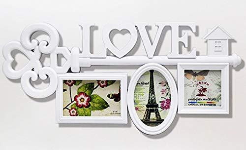 Acan Marco para Fotos de Pared múltiple, decoración del hogar. Multimarco portafotos de PVC (3 Fotos, Blanco)