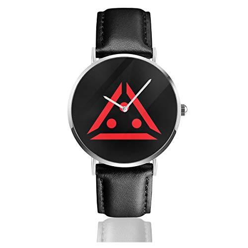 Unisex Business Casual The Predator Target Symbol, Trucker Cap Uhren Quarz Leder Uhr mit schwarzem Lederband für Männer Frauen Junge Kollektion Geschenk
