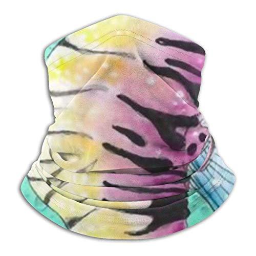 M-a-SKS Gepersonaliseerd design voor de kiembescherming, zeepaardje, blauw bubbel, onderwaterafdekking, winddicht, stof, anti-vuil-bandanas voor mannen en vrouwen, teens.