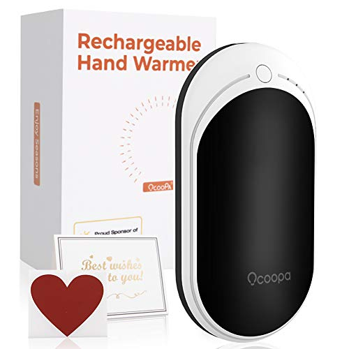 OCOOPA Hand Warmers Rechargeable, 5200mAh Electric USB Hand Warmers Power Bank Type-c Charging Reusable Hand Warmer Best Gift for Women, Men, Aged People, Raynaud Heat Therapy, Outdoors