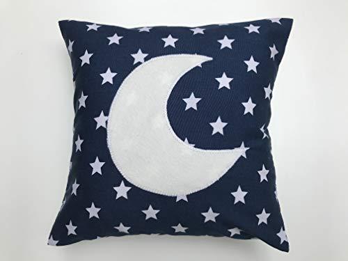 MyOwnCastle Kuschelkissen Sterne Mond Blau 20x20cm