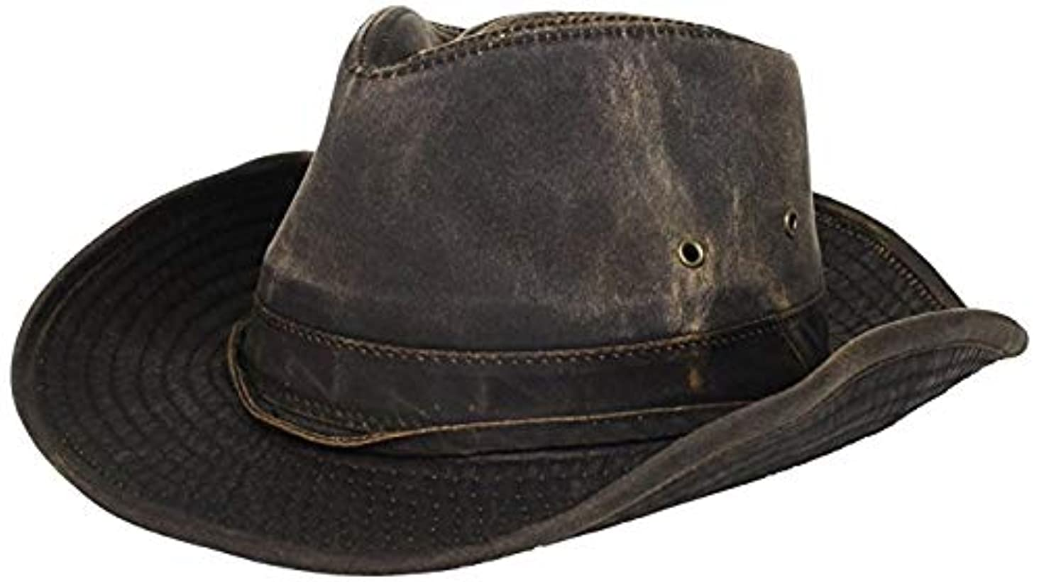 Dorfman Pacific Men's Outback Hat with Chin Cord