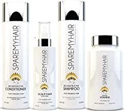 Spare My Hair Vitamins, Shampoo, Conditioner and Scalp Solution for Hair Growth with Biotin, for Healthy Hair Treatment for Men & Women, Visible Results in 1 Month Longer Stronger Silky Soft Hair