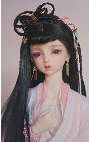 Clicked Bjd SD Puppe Haar Chinesische Antike Perücke Für Puppe DIY Liefert,Headcircumference18~19cm