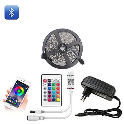 N-B Tira de Luces LED Bluetooth 20M RGB 5050 SMD Cinta Flexible Impermeable Luz LED RGB 5M 10M Diodo de Cinta DC 12V Control Bluetooth