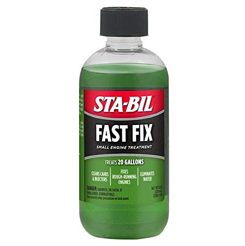 STA-BIL (22304 Fast Fix Small Engine Treatment - Cleans Carbs and Injectors - Fixes Rough Running Engines - Treats 20 Gallons, 8 fl. oz.