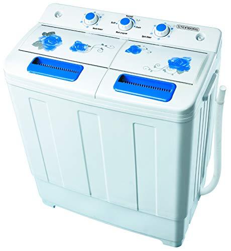2in1 Mini Waschmaschine mit Schleuder | Waschautomat bis 6 KG | Schleuderkammer 3 KG | Toploader |...
