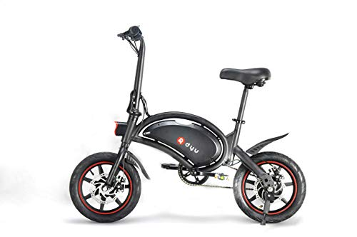 DYU Folding Electric Bike, E-Bike, 14 Inch E Bike, E-Moped, Lithium Battery (6Ah), 250W Motor, 20-35 Kilometres Pedele