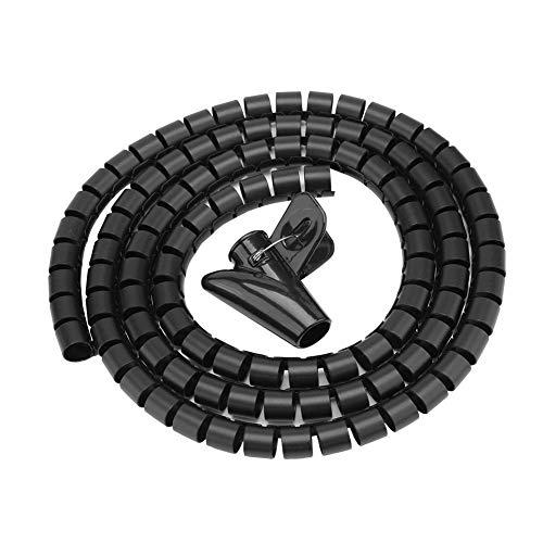 Tubo Espiral Enrollado, Tubo Espiral Flexible Organizador de Cables Cable Envolvente Protector...