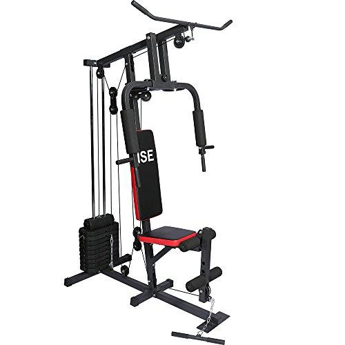 ISE Station de Musculation Banc de Musculation Multifonctionavec Poids SY-4002