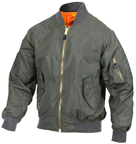 Rothco Lightweight MA-1 Flight Jacket, Sage Green, M