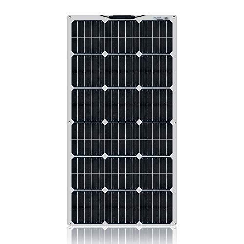YYANG Einkristall-Solarpanel Mit Flexibler Platine 18 V / 100 W Glänzend Haustierweiß Anschlusskasten Vorn