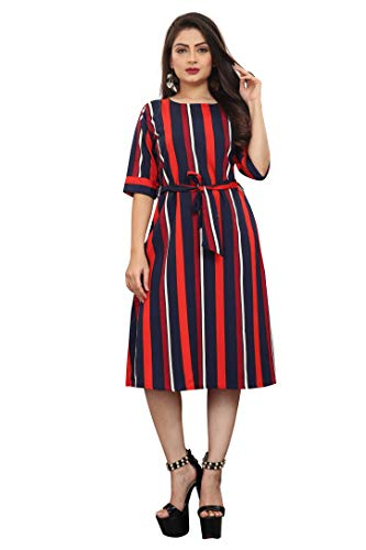 AA Creation Women's Fit and Flare Knee Length Dress
