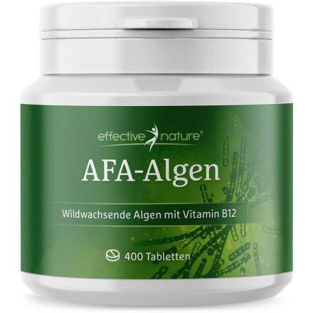 effective nature AFA Algen Tabs, beste Rohkostqualität, Presslinge aus 100% reinem, veganen AFA-Algen-Pulver, Wildsammlung, hoher Proteingehalt, kontrolliert in Deutschland, 400 Tabletten
