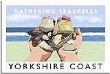 JRLDMD Cuadros Decoracion Póster de Viaje Vintage Decoracion de la Costa de Yorkshire póster de Pintura Lienzo Moderno para Oficina póster artístico decorativo40x60cm x1 Sin Marco