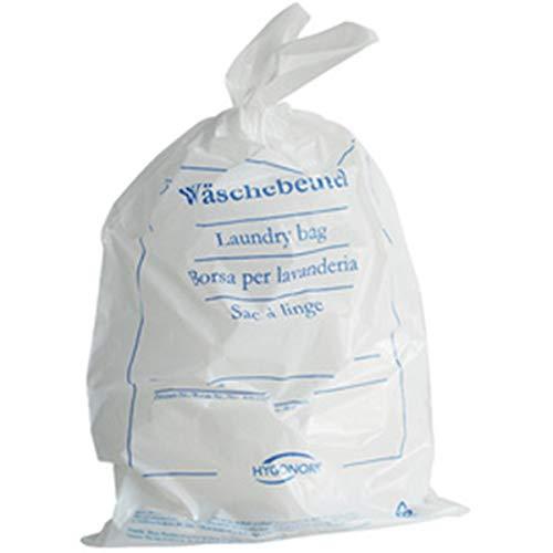 HYGOSTAR Wäschebeutel für Hotel - Einweg Wäschesack aus PE- Folie - VE 100 Stück