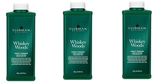 [VALUE PACK OF 3] CLUBMAN RESERVE WHISKEY WOOD FINEST POWDER 9 OZ
