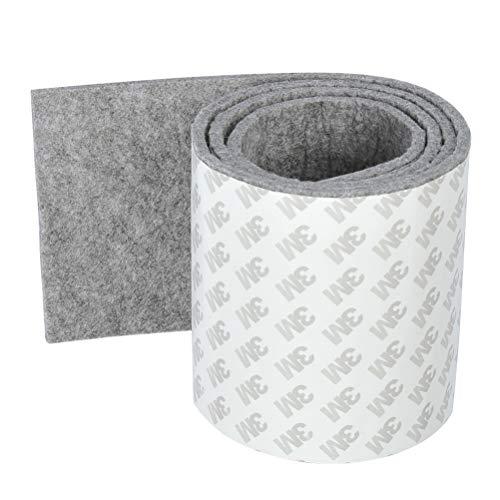 Filzband selbstklebend 100cmx10cm Filz Klebeband Bodenschutz für Möbelfüße, Tischbeine