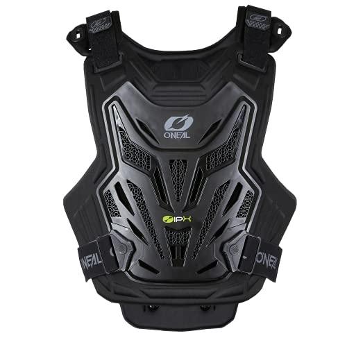 O'NEAL | Leichter Brustpanzer Protektor | Motocross Enduro |Hoher Tragekomfort dank innerem Bio-Schaum, zertifiziert nach CE 14021 | Split Chest Protector Lite V.22 | Erwachsene | Schwarz | OS
