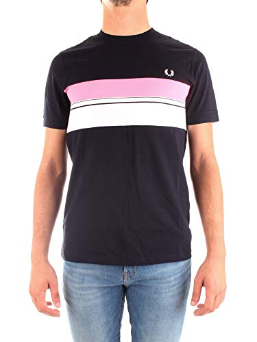 Fred Perry Striped Chest Panel T-shirt, Maglietta - S