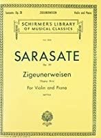 Zigeunerweisen Gypsy Aires, Op. 20: Violin and Piano (Schirmer Library of Classics)