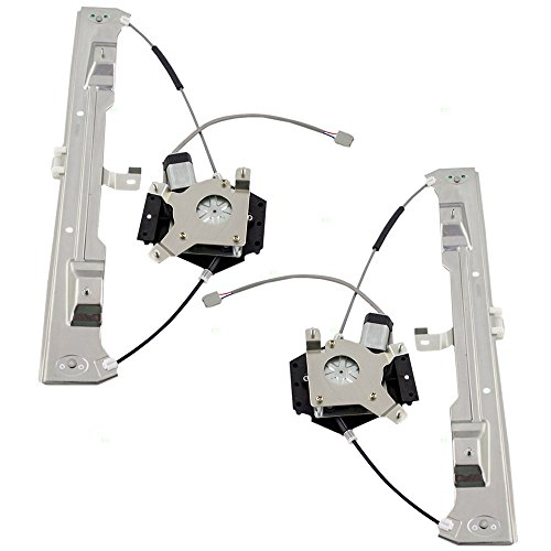 Rear Power Window Regulators & Motors Assemblies Driver and Passenger Replacements for Mercury Ford Pickup Truck 6L2Z7827001BA 6L2Z7827000BA