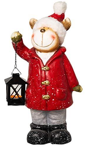 Wichtelstube-Kollektion XXL Weihnachtsdeko Figur Elch Deko Garten Winter Weihnachten