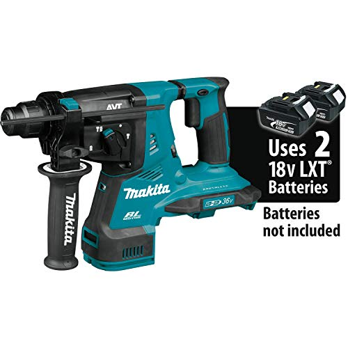 Makita XRH08Z 18V X2 LXT Lithium-Ion (36V) Brushless Cordless 1-1/8' AVT Rotary Hammer, accepts SDS-PLUS bits, Tool Only