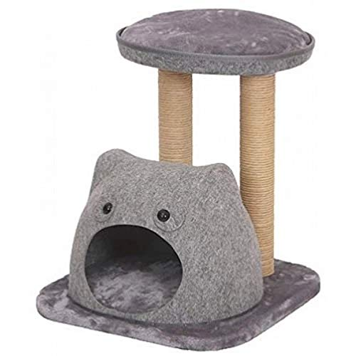 PetPals Lena - Felt Two Level Cat Tree with Perches and Condo