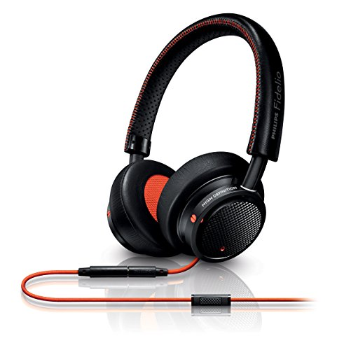 Philips Fidelio M1MKIIBO faltbares On-Ear Kopfhörer inkl. Mikrofon schwarz/orange