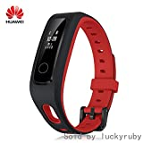HUAWEI Honor Band 4 Running Edition All-in-One Activity Tracker Smart Fitness Wristband GPS Multi-Sport Mode 5ATM Waterproof Anti-Lost (Red)