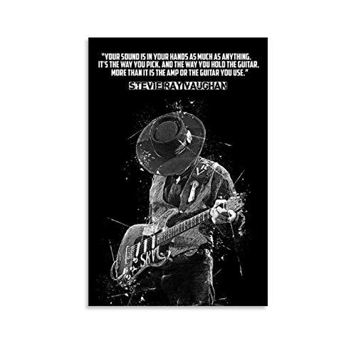 Jiandan Stevie Ray Vaughan Canvas Art Poster and...