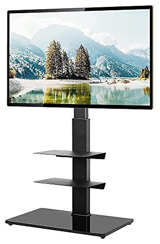 Soporte Giratorio para TV de Piso para televisores LCD LED de Pantalla Plana/Curva de 32 a 65 Pulgadas con Estante