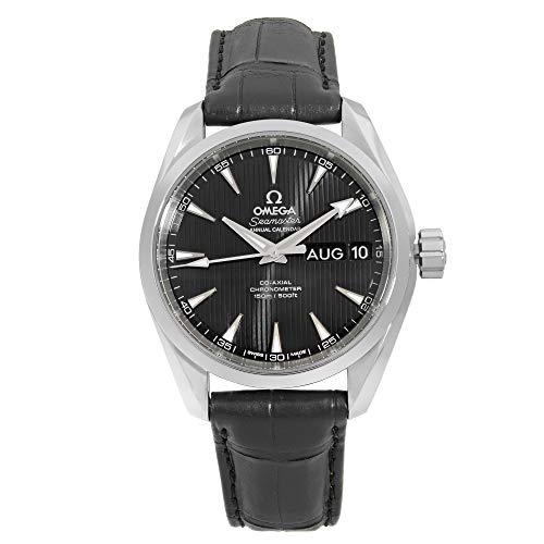 Omega Aqua Terra acciaio nero calendario automatico Mens Watch 231.13.39.22.01.001