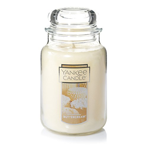 Yankee Candle Buttercream Scented Cream|Premium Paraffin Grade Candle Wax with up to 150 Hour Burn Time, Large Jar