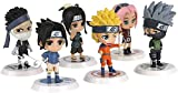 6 sztuk pop figurek w kszta?cie figurek Naruto, wersja Q Naruto, mini zestaw figurek, figury akcji...