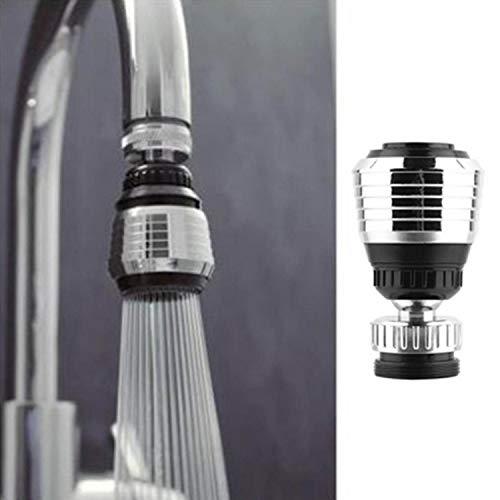 Evokems Wasserhahn-Wasserfilter für Zuhause, Küche, Bad, nützlicher Wasserhahn, Spart Wasser, 360 ° Wasserauslauffilter