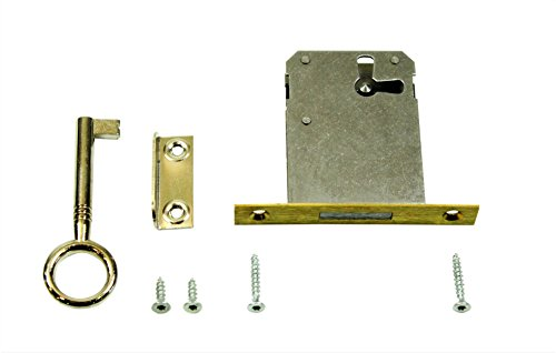 SN-TEC Einsteckschloss/Möbelschloss / Schrankschloss 45mm Dornmaß rechts/links/oben verwendbar incl. Zubehör